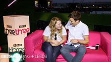 Kate Tempest and Greg James in the BBC Three studio