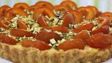 Martha's Pistachio, Apricot & Honey Custard Tart