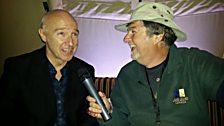 Midge Ure and BBC Radio Stoke's James Watt
