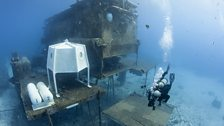 Aquarius undersea lab. Taken on location in Key Largo, in the Florida Keys National Marine Sanctuary.