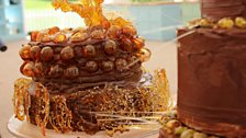 Chetna's Almond Liquer Dobos Torte with Chocolate Caramel Buttercream