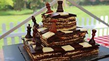 Martha's Chess-Themed Chocolate & Salted Caramel Dobos Torte