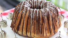 Kate's Pecan, Chocolate & Sour Cherry Yeast Cake