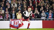 Neil on the Stoke City pitch