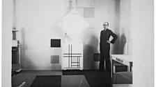 Mondrian in his Paris studio. Photo by Charles Karsten