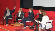 Matthew Collings, Susan Greenfield, Paul Farley and Fiona Rae with Anne McElvoy