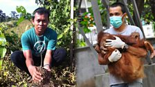 Panut Hadisiswoyo, and Ricko Jaya, Founder and veterinarian for the Orangutan Information Centre, Sumatra