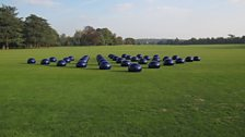 Installation image at Blenheim Palace, Ai Weiwei, Bubble, 2008
