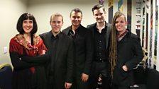 Sinéad Morrissey, Martin Ford, Craig Ogden, Michael McHale and Duke Special