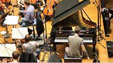 Michael McHale rehearses Gershwin's Rhapsody in Blue
