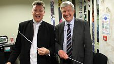 Conductor Stephen Bell with BBC Director General Tony Hall
