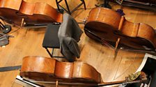 Double basses take a rest