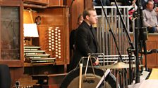 Martin Ford performs on the Mulholland Organ