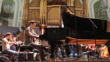 Michael McHale on the Steinway (other grand pianos are available)