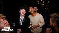 Rixton and Rizzle Kicks backstage