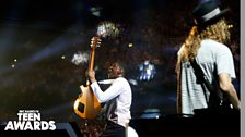 Labrinth with his guitar