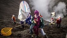 Tenggerese people taking part in the Kasada festival which happens once a year on Mt. Bromo, an active volcano