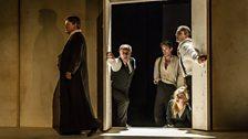 l-r: Nicholas Folwell (Priest), Gwion Thomas, Paul Curievici, Michael Druiett, Rowan Hellier (Watchers)