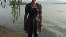 Anna Meredith by the West Lake in Hangzhou, China