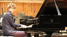 Pavel Kolesnikov takes a break during rehearsals of a performance of Rachmaninov's Third Piano Concerto