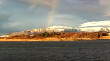 Rainbow over Reykjavik