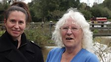 Barbara and her daughter Loretta at Kings Weir