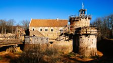 Guedelon Castle in the morning