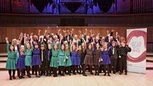 Ysgol Glanaethwy Junior Choir (photo credit - Tas Kyprianou)