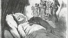 Honoré Daumier, 'In his nightmares, he is pursued by his victims', News of the Day series,1852