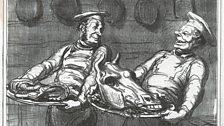 Honoré Daumier, A Horsemeat Banquet, 1865 Published in Le Charivari Lithograph