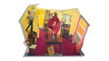 The London Studio, 1964-66;  2010;  oil on mdf;  50 x 67 ins