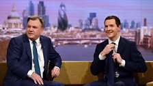 Chancellor George Osborne and Shadow Chancellor Ed Balls