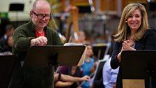 Patrick Brennan and Tracy-Ann Oberman