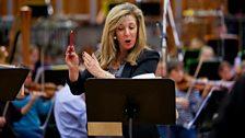 Tracy-Ann Oberman plays Mrs Fezziwig