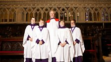 David Flood with Cathedral Choristers