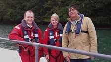 Alan with Carol Thorogood and David Robertson of Cornwall Port Health Authority