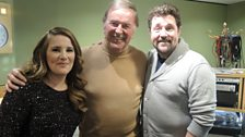 Michael Ball and Sam Bailey with Sir Terry