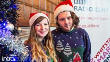 Abbie McCarthy and producer Harrison Stock at BBC Introducing in Kent's Christmas Party