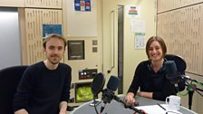 Sara Mohr-Pietsch in the studio with Accent member James Rose