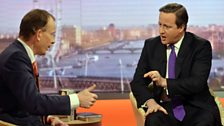 David Cameron speaking to Andrew Marr