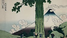 Katshushika Hokusai, Mishima Pass in Kai Province, from the series Fugaku Sanjürokkei (36 Views of Fuji), c.1826-33