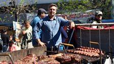 John Torode at an asado in Buenos Aires