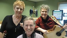 Chris While and Julie Matthews with Sir Terry
