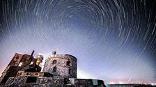 Star Trails over Calshot Castle