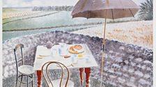 Tea at Furlongs, watercolour, 1939