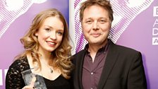 Jade Matthew won Best Debut Performance, presented by Shaun Dooley.