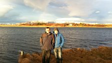 Tom with Sigurdur from the Institute of Freshwater Fisheries