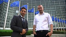 Memnos Costi and David Hay in Brussels
