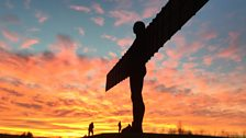 Angel of the North in January
