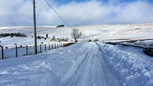 Snow at Carrshield Hexham